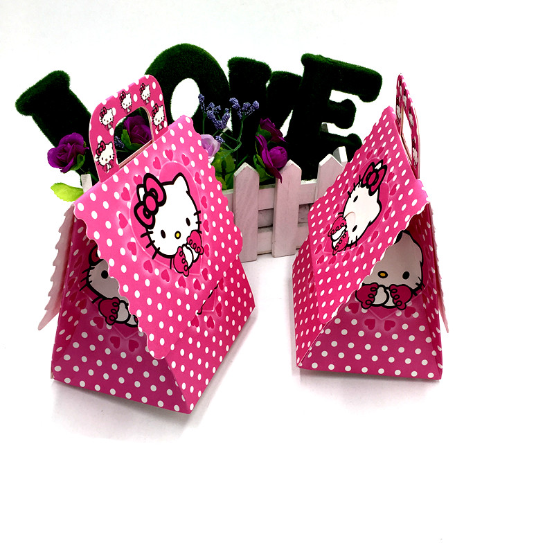 6c6357e5f548 6pcs Kitty Mouse candy boxes kids party favors school bags Hello Kitty  candy bags birthday party supplies Hello Kitty gift boxes-in Gift Bags    Wrapping ...