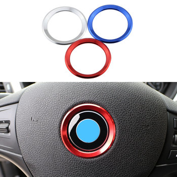 Excellent New 3D Steering Wheel Aluminium Alloy Sticker Case For E39 E36 E60 E90 E34 BMW E46 Car Styling image