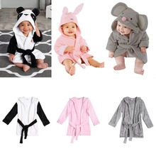 For 2-3Years Soft Baby Towels Animal Shape Hooded Towel Lovely Baby Bath Towel Baby Hooded Bathrobe Blanket For Newborn Infants