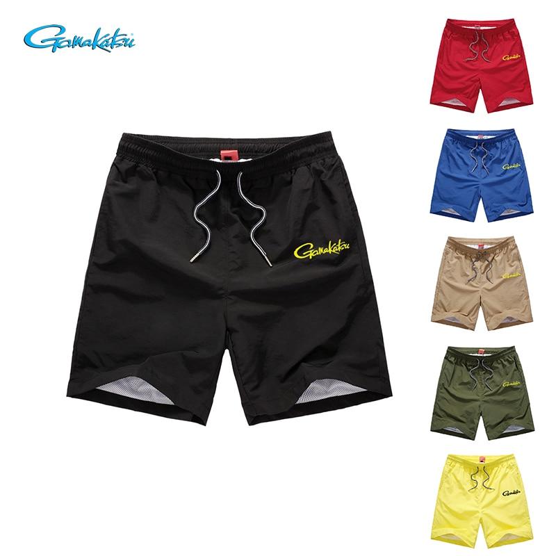 2019 été Gamakatsu Shorts de pêche hommes décontracté confortable pantalons de sport de plein air respirant léger imperméable pantalons de pêche