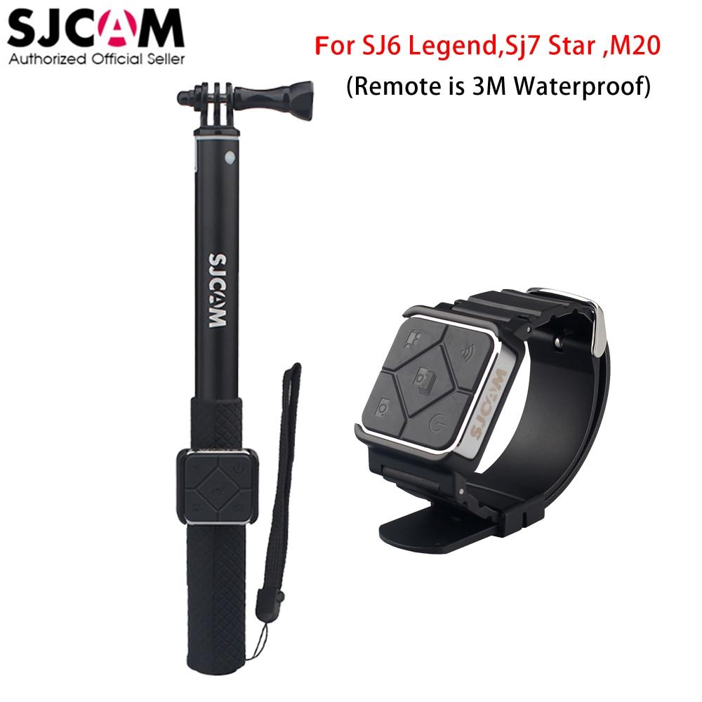 100% Original Sjcam Remote Watch + Remote Monopod for Sjcam M20 Sj6 Legend Sj7 Star Sports Action Camera DVR аксессуар sjcam sj cm m20 for sjcam m20 зарядное устройство