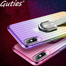 ФОТО guties fashion car holder stand magnetic bracket phone case for iphone 6 6s 7 8 plus x 10 finger ring soft tpu cover for iphonex