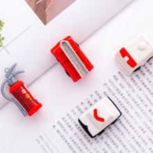 4 pcs/set Creative fire truck extinguisher cartoon eraser Novel Fire engine series pencil set Childrens gift