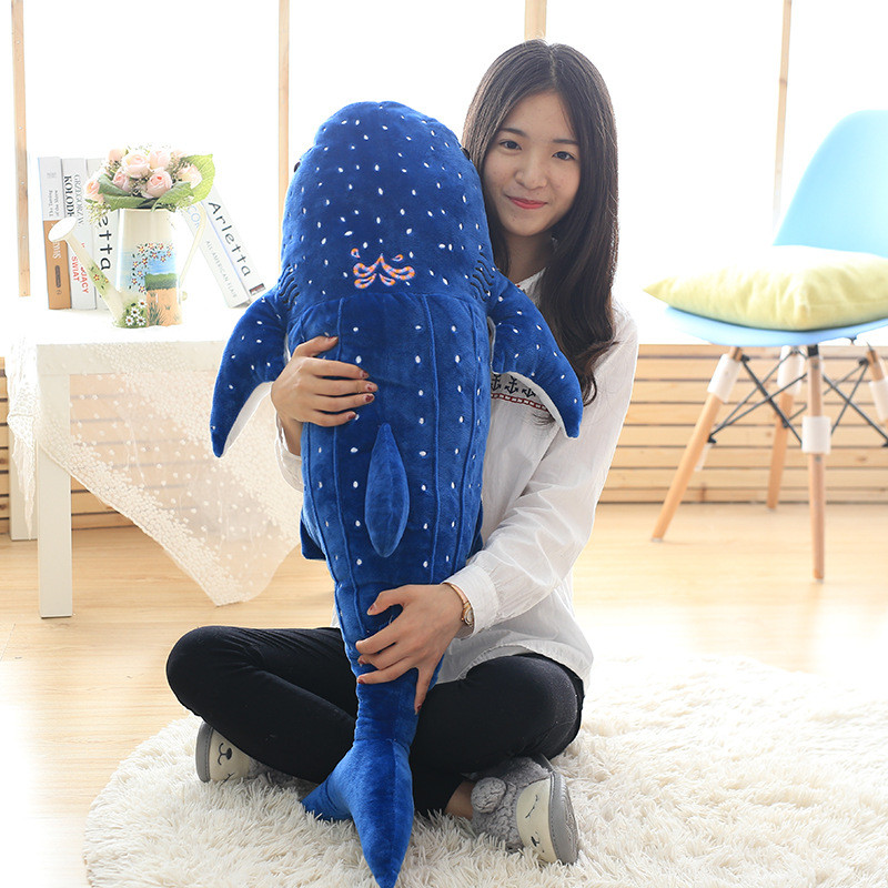 125cm Toys for Children Creative Whale Shark Doll Pillow Plush Doll Nap Pillow Girls Valentine's Day Gift Juguetes Brinquedos neck support nap pillow