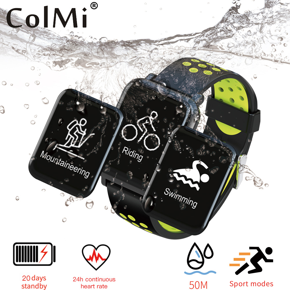 ColMi Smart Watch SN60 Heart Rate Monitor Smart Fitness Bracelet Watch Blood Pressure IP68 Waterproof Smartwatch Pk Fitbits colmi v11 smart watch ip67 waterproof tempered glass activity fitness tracker heart rate monitor brim men women smartwatch