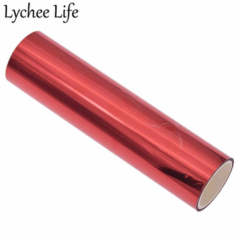 Lychee Leven DIY Hot Stamping Folie Papier 5m Alumite Laser Folie Papier Kleurrijke Foto Hout Visitekaartje Shirts Decoratie stof