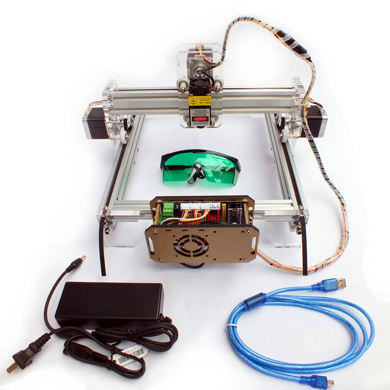 500mw DIY desktop laser engraving machine, laser engraver cutting marking machine DIY Mini plotter working area 21*25cm for toy цена