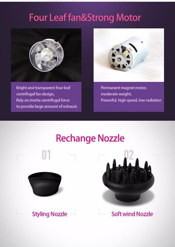 secador de cabelo equipamento do banheiro asciugacapelli professionale