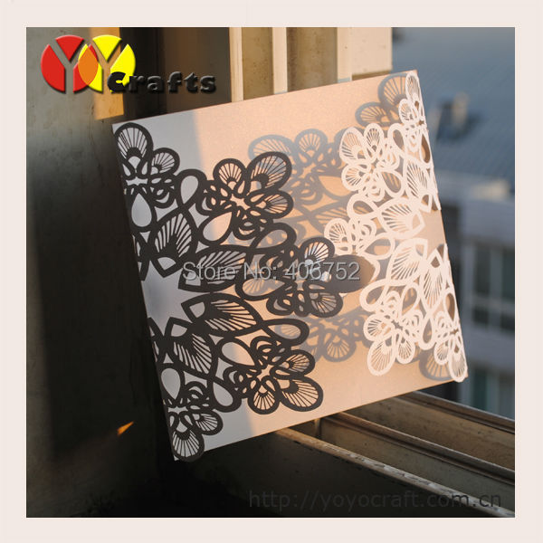 Inc084 Best Sell Laser Cut Flower Shape 21st Birthday Invitations Designs