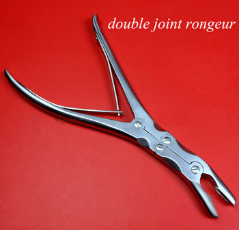 Medical orthopedic instrument olecranon type rongeur forceps stainless steel double joint bone rongeur forceps