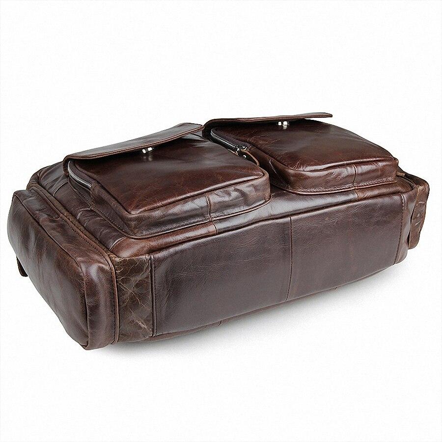 Geschäfts Mann Tote Herren Herren Zoll Taschen Echtes 15 Li Umhängetasche Leder Reisetaschen taschen Männer 1284 Coffee Laptop Aktentasche qOAAtUX