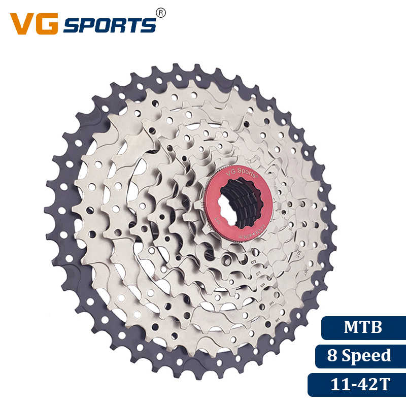 VG Sports Brand MTB Mountain Bike 8 Speed Cassette 8 Velocidade 8S 42T Bicycle Freewheel Flywheel Sprocket Cog Cdg Xg 441g