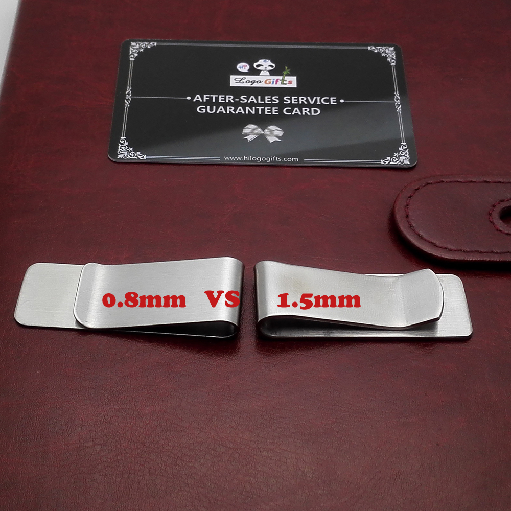 Stainless steel gold/silver dollar clip customized printed with your Company logo and contacts informatioon for promotions
