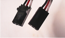 Free Shipping 3 pin cable flat end + latched 30cm (10Pc)
