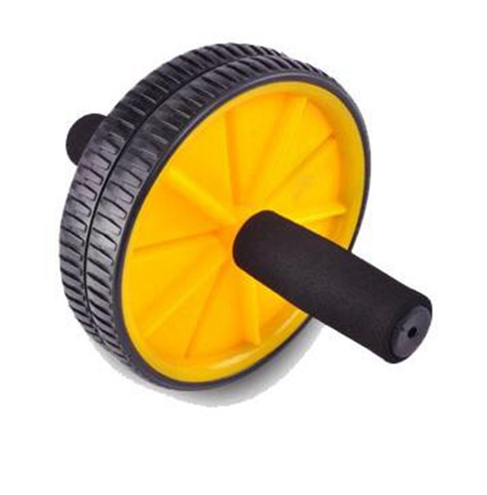 High quality!New Dual Abdominal Ab Roller Wheel With Mat for Gym Abdominal Exerciser Fitness Equipment,Free shipping