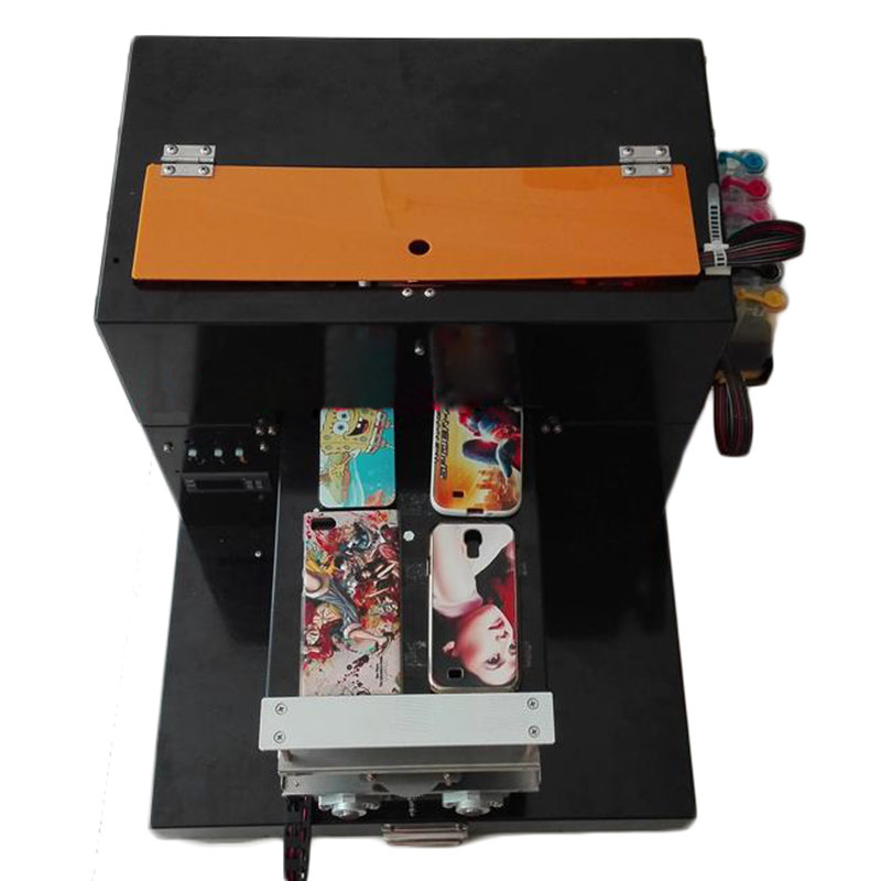 A4 Flatbed Printer Card Mobiele Telefoon Shell Metalen Kristal Gepersonaliseerde Lederen Afdrukken Board Gebruiksgoederen