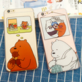 Lovely Cartoon We Bare Bears Cover For iPhone 7 6 6s Plus 5 5s Soft Silicone Phone Case Soft Rubber Cases Thickening