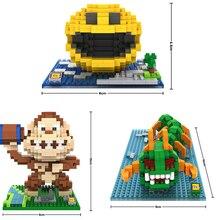 480 шт./компл. Мини Строительные блоки для PacMan для Pixel мультфильм война с пришельцами King kong сороконожка сборка кирпичи дети для игрушек подарки