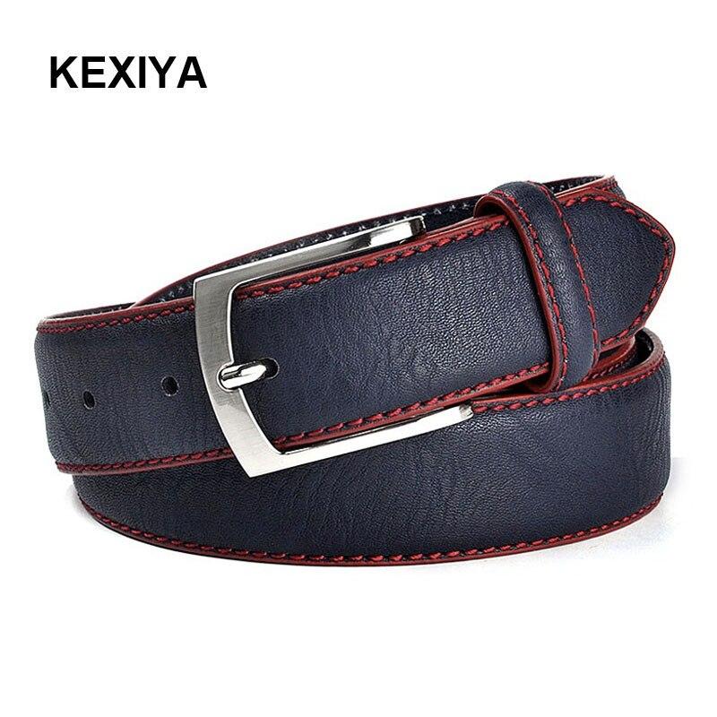 KEXIYA 2017 Men   Belt   Fashionable High Quality Italian Designers Luxury Casual   Belts   Jeans Men   Belt   Navy Blue   Belts   Hot Selling