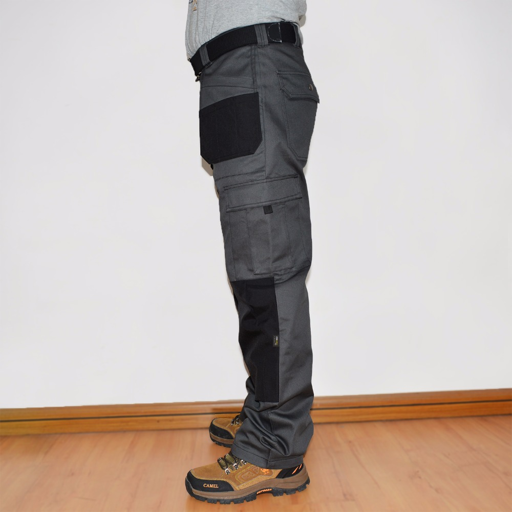 Mens Cargo Pants With Holster Pocket Cordura Knee Pocket Work Trouser Full Length Long Pant Plus Size Brand Clothing ID713