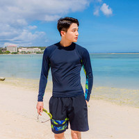 2018 Men Long Sleeve Swimwear Rashguard Men Surfing Diving Swimwear UV Protection Beach Rash Guard Bodysuit Plus size Swimsuit