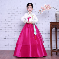 Girl Korean Traditional Costume Children Minority Folk Ancient Korea Hanbok Kids Show Stage Dance Clothing Asian Hanbok Dress 89