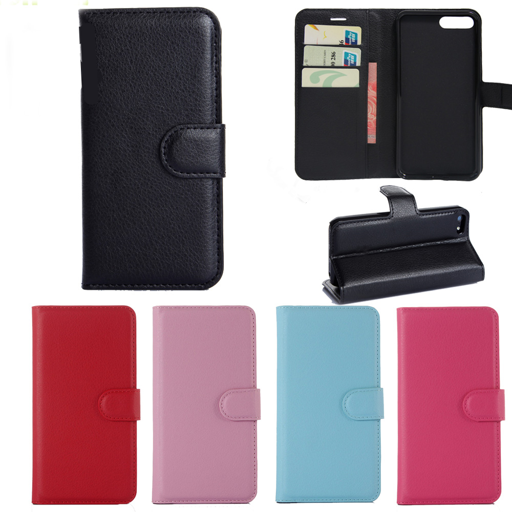 LIONSTAR Luxury PU Leather Flip Wallet Cover Case For Iphone 6 6S 7 8 Plus X Protective Case Flip Cases Back Shell Phone etui
