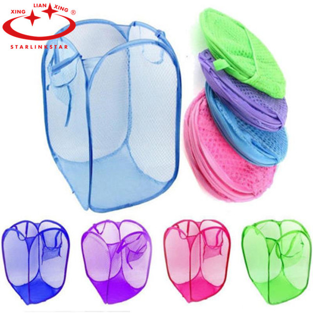 Multicolour Foldable Pop Up Laundry Basket Dirty Clothes Washing Wash Bag Toys Portable Clothing Storage