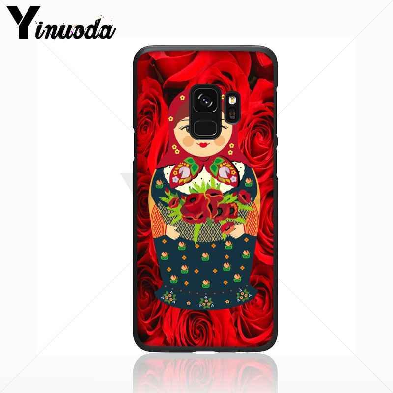Yinuoda かわいいロシア人形パターンマトリョーシカソフト電話カバーケース三星銀河 s9 s8 プラス注 8 note9 s7 note5 ケース s