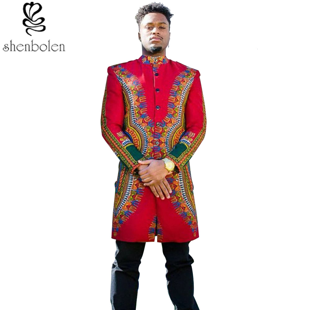 spring autumn summer 2016 African man coat dashiki wax batik printing pure cotton long sleeve jacket Men clothing free shipping front ensemble shirt ideas