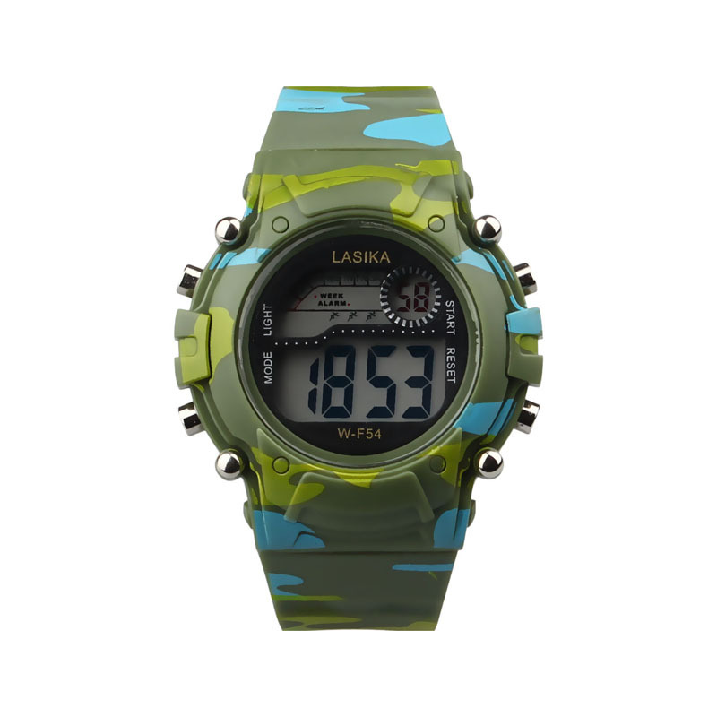 New Fashion Children Watches Camouflage Style Boy Girls Led Digital Analog Quartz Alarm Date Watch Rubber Sport Military Watch