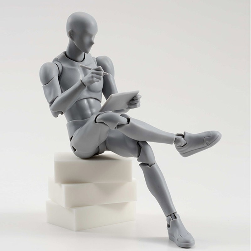 2 Style Body Chan Pale Gray Color 14cm Figma Bandai SHF Ferrite PVC Action Figure Figma (8)