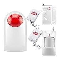 Simple Setting 433MHZ 120dB Home Burglar Security Alarm System Detector Sensor Kit For Home House Security