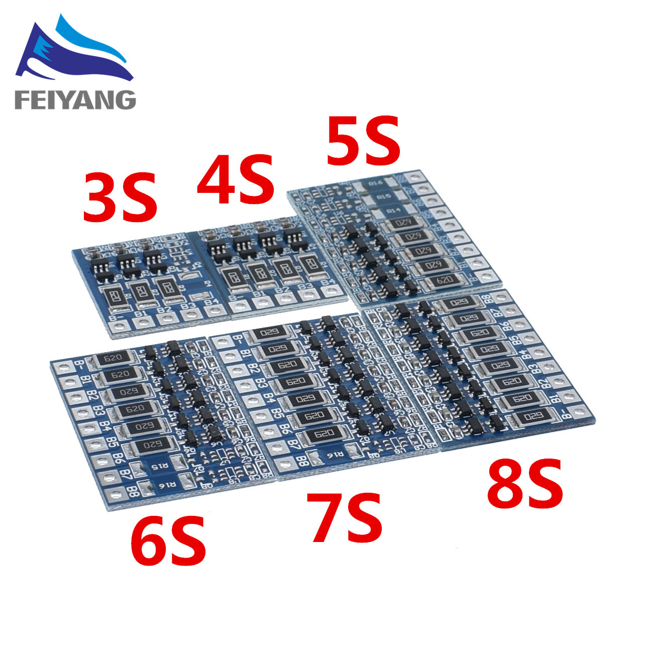 Balanceador para 5s 18v Li-ion packs//balance board//carga módulo 4,2v//celda