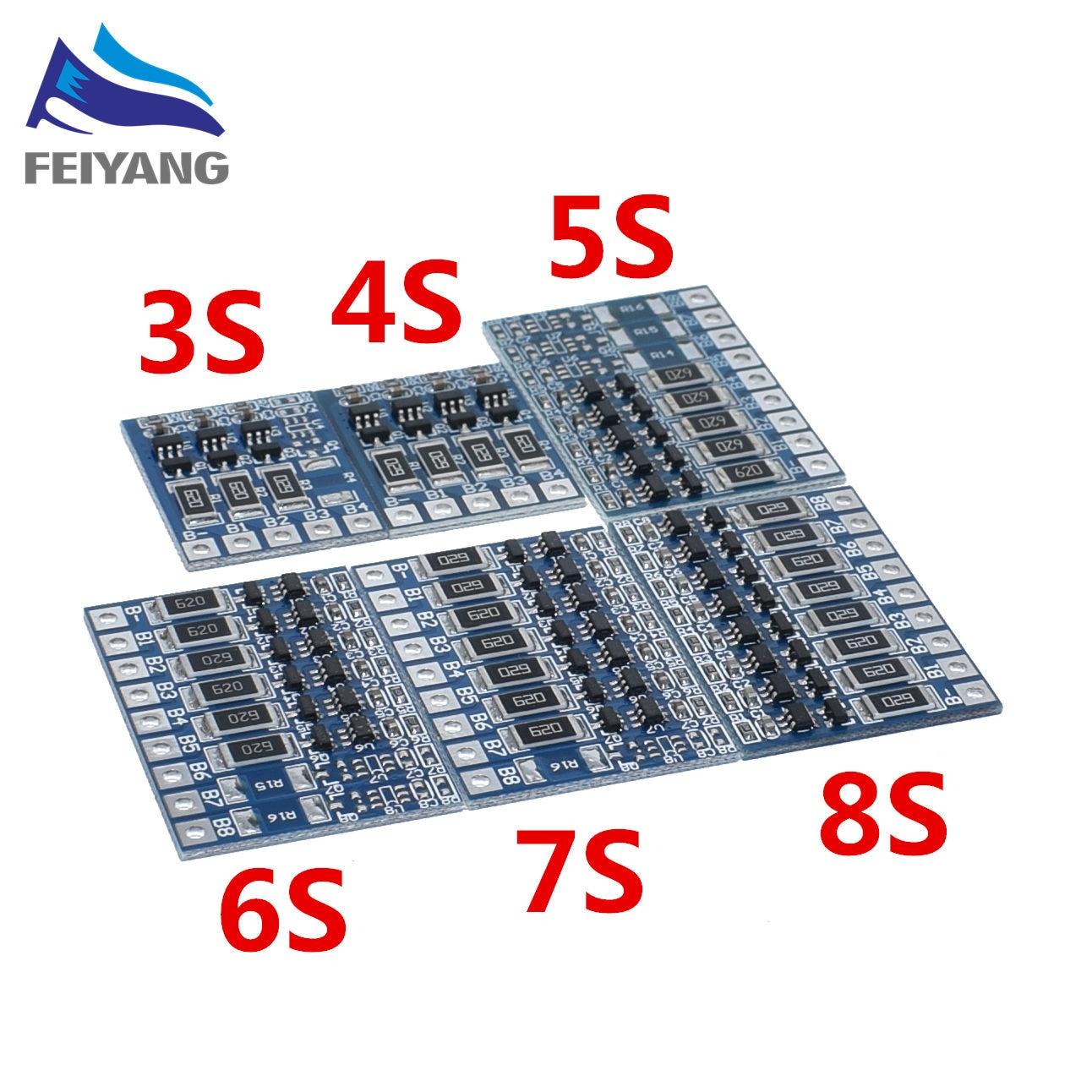 5S 21V 4.2V Balance Function Protection Board 68mA 5S Li-ion Lipo Battery Lithium 18650 Batteries Balanced 3S 4S 5S 6S 7S 8S(China)