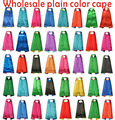 Wholesale plain Solid 70*80CM 2layer Satin Superhero Cape child cape,personality capes,custom satin capes