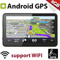 "E80 7.0 inch Android 4.4 8GB Car GPS Navigation WIFI FM 7"" Satellite Navigator Europe Map Free Lifetime Update With Sun Vistor"