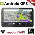 """E80 7.0 polegada Android 4.4 8 GB GPS Do Carro Navegação WI-FI FM 7 """"Navegador por satélite Europa Mapa Livre Lifetime Atualização Com Vistor Dom"""