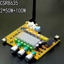 Cheapest prices GHXAMP TPA3116 2.1 Bluetooth Amplifier Board AUX CSR8635 4.0 HIFI Digital amplifier High-power 50*2+100W Bass 2-4OHM Speaker DIY
