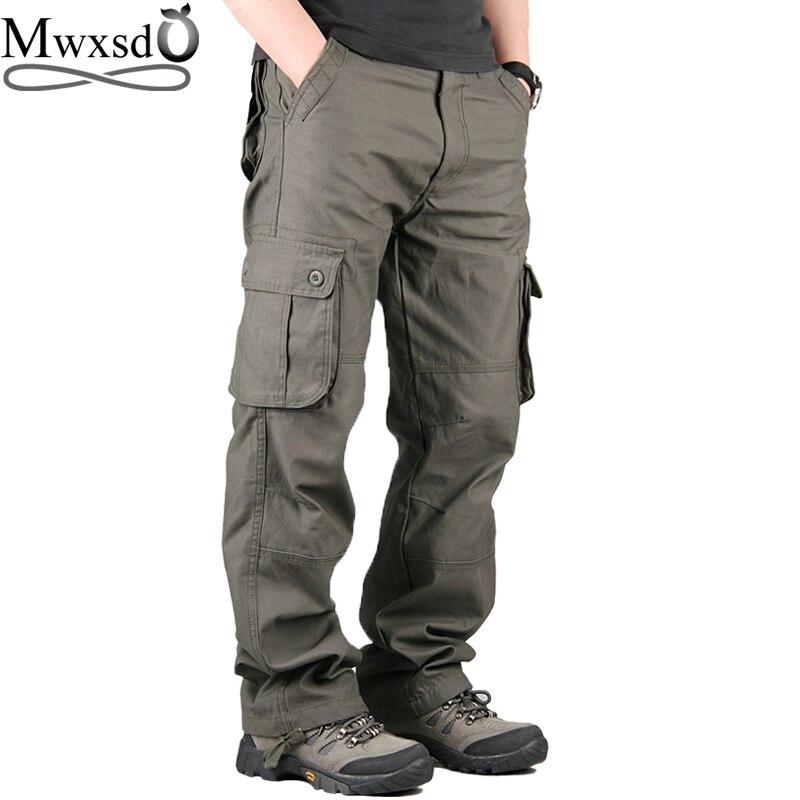 2016 Autumn Winter Cotton Men S Cargo Pants Men Casual Outdoor Sports Pants Male Multi Pocket