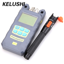 2 In 1 Fiber Optical Tool Kit Power Meter with 10mW visual fault locator Cable  tester fiber optical tool free shipping KELUSHI