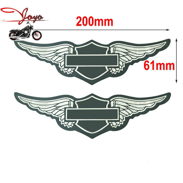 Motorcycle gas tank decals sticker for harley sportster dyna touring softail fat bob super glide wide
