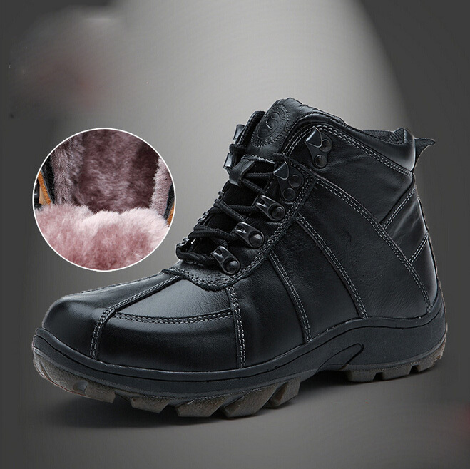 New children boots boys boots kids warm winter cotton shoes child fashion boots genuine leather kids boots new arrival fashion 2014 boys child boots child genuine leather boots snow boots children shoes 25 33