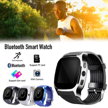 Aaliyah T8 Bluetooth Smart Watch Men With Camera Call Facebook Whatsapp Support SIM TF Card Smartwatch For Android PK M26 DZ09 bluetooth smart watch men android call watches facebook whatsapp sport band sim tf card healthy sleep reminder kids smartwatch