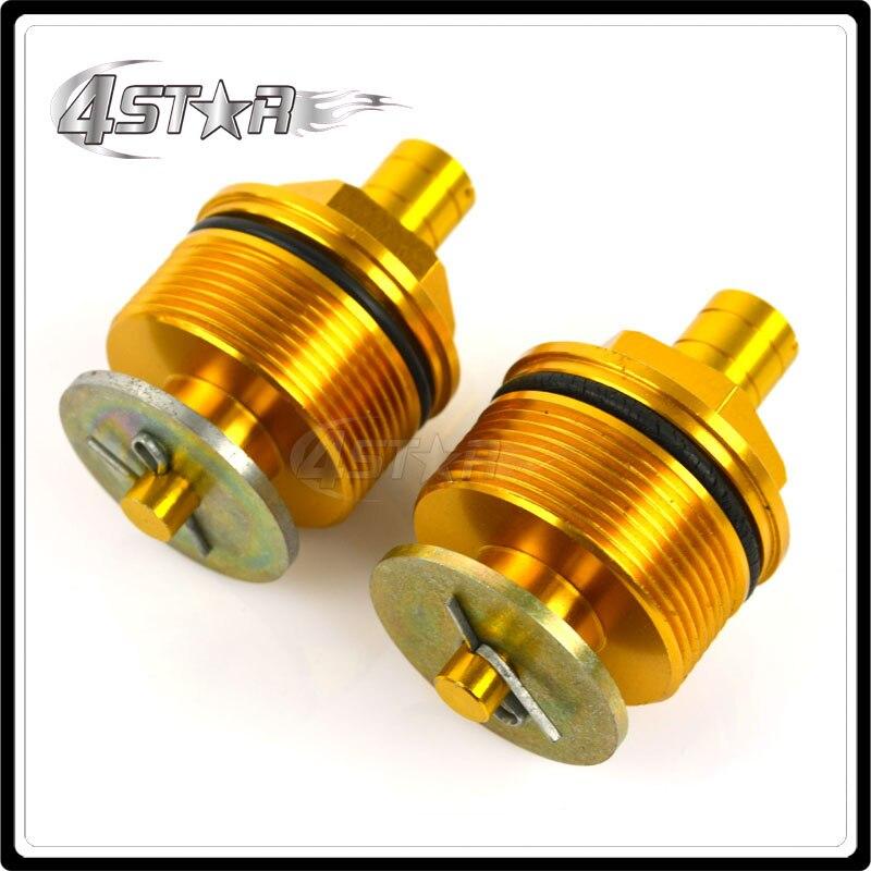 37mm Gold <font><b>Fork</b></font> End Cap Screw Bolt Tube Plugs For CBR250 NC19 NC22 VT250 Motorcycle ATV Racing Street Bike Free Shipping