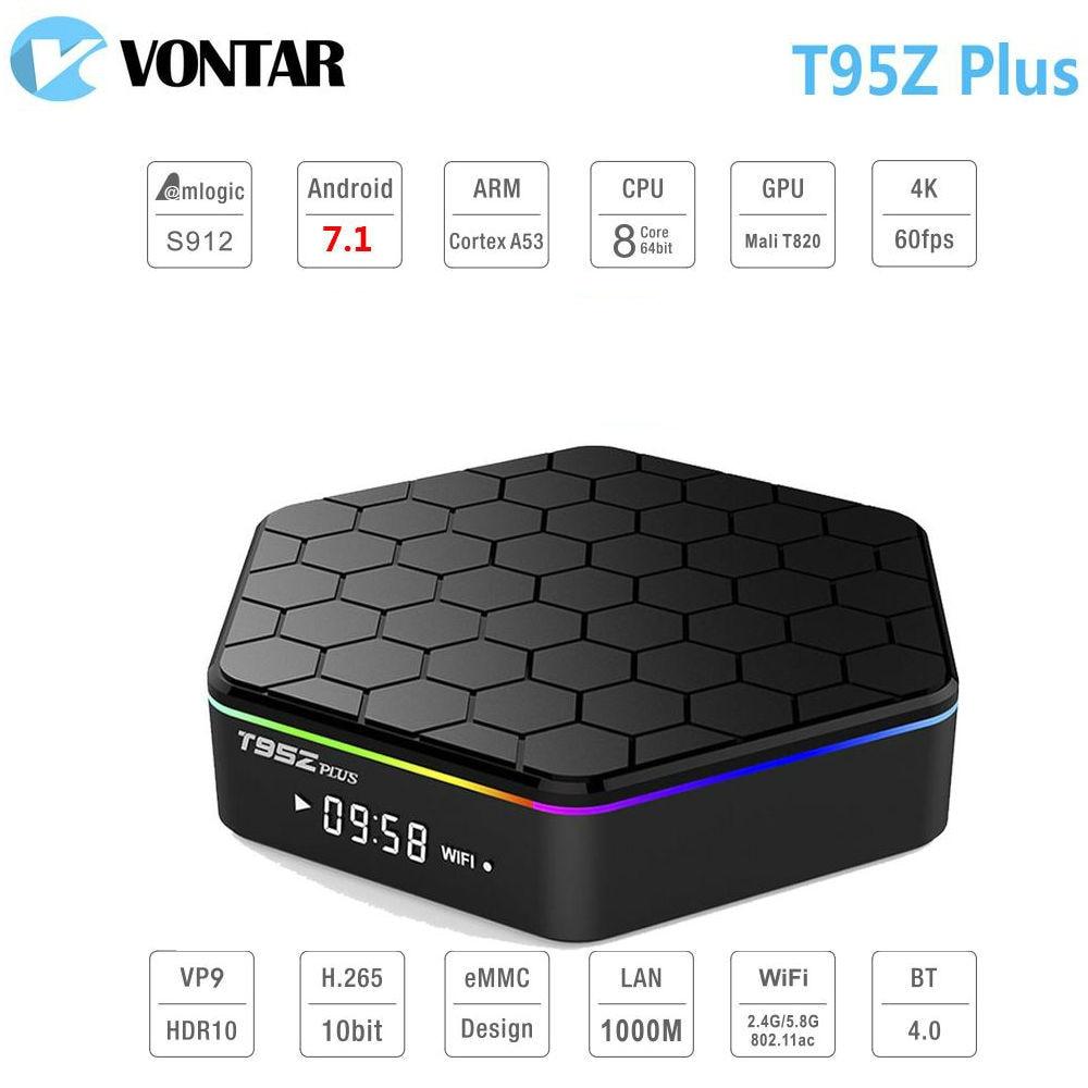 VONTAR 3G/32G Android 7.1 TV BOX T95Z Plus Amlogic S912 OctaCore 2G16G T95Z + Smart Set Top box 2.4G/5GHz Dual WiFi BT4.0 цена