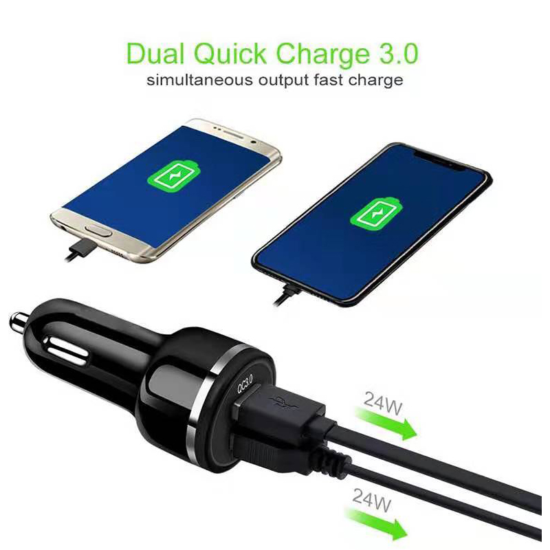 Fiuzd 36W USB Car Charger Dual Quick 3 0 Charge for iPhone 6s X 8 6 redmi note 7 pro note 7 Samsung S10 S10e USB Fast Charger in Car Chargers from Cellphones Telecommunications