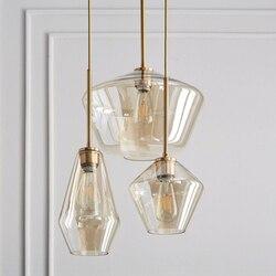 Nordic Moderne Glas Anhänger lichter Leuchten Loft LED Hängen Anhänger Lampe für Küche Restaurant Wohnzimmer Schlafzimmer E26 E27