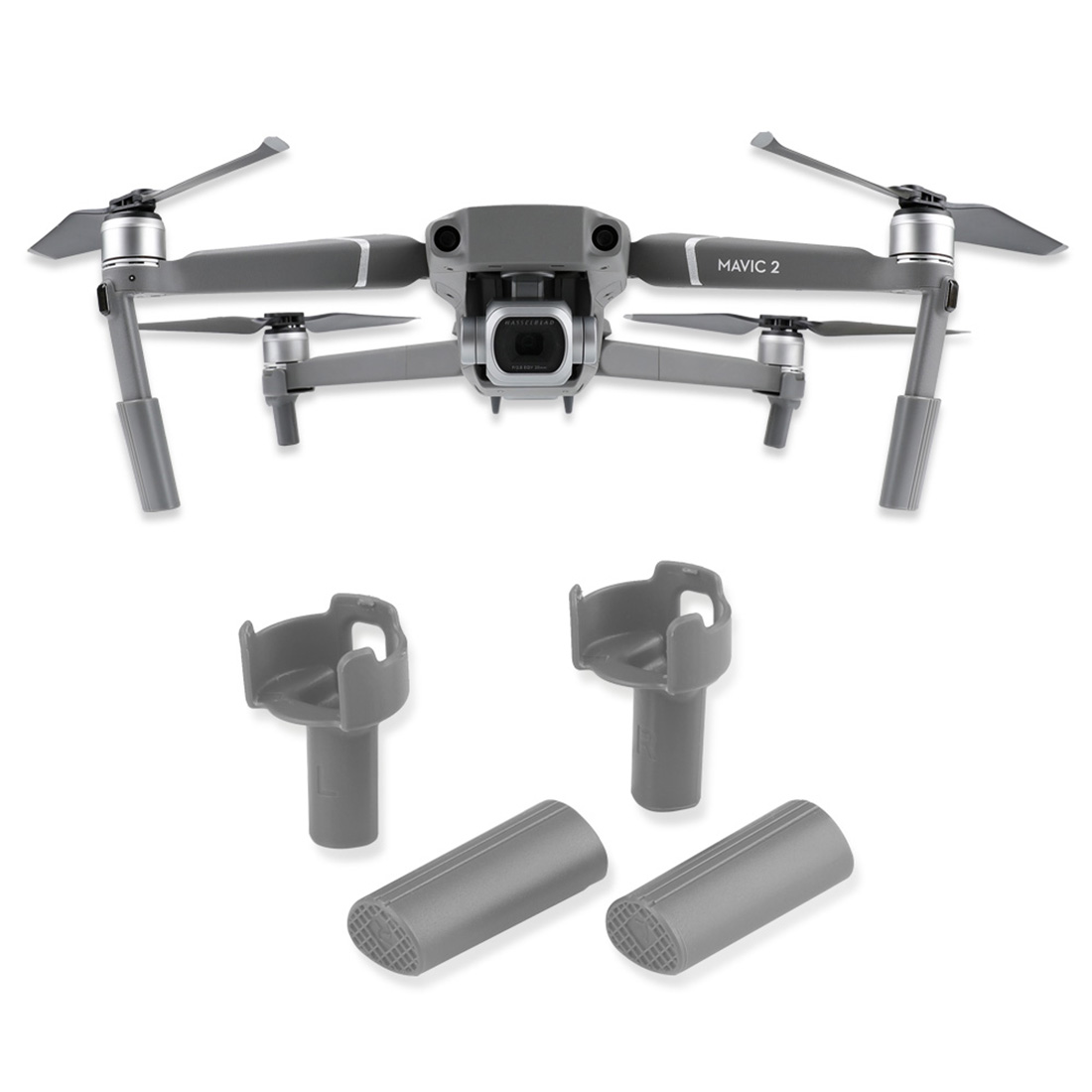 Universal Increased Landing Gear for DJI MAVIC 2 PRO/MAVIC 2 ZOOM pgytech dji mavic 2 landing gear riser extended landing gear leg for dji mavic 2 pro zoom fly more combo drone accessories parts