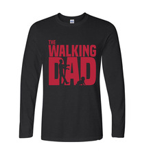 2017 Fashion Summer Style the walking dad funny Long TShirts long sleeve T Shirt men